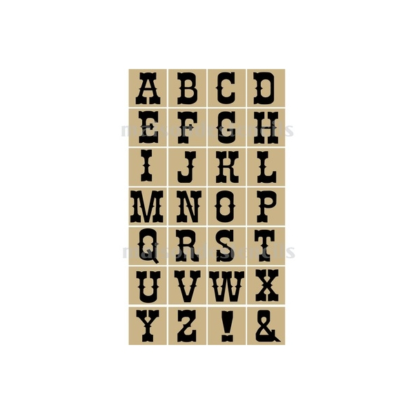 Pin Printable Western Letter Stencils on Pinterest
