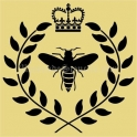 Bee Crown With Laurel Wreath 18x18 Stencil