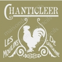 Chanticleer Rooster French Mill 18x18 Stencil