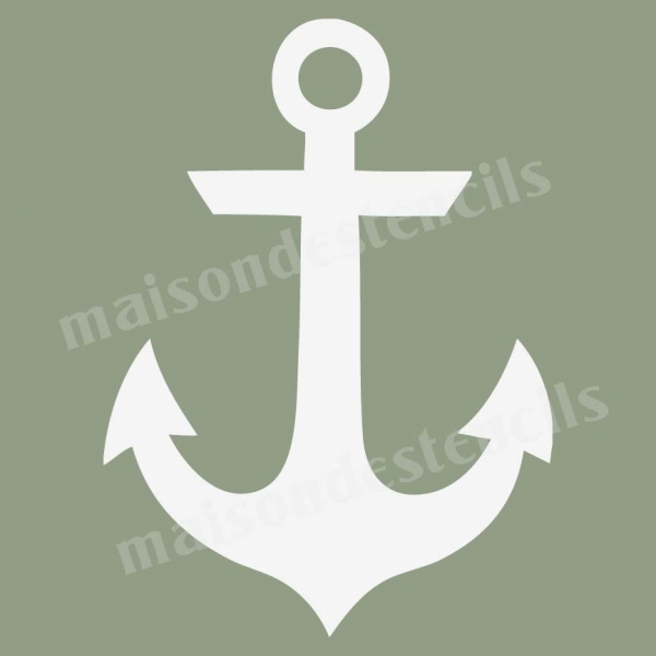This is a graphic of Unusual Anchor Stencil Printable