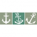 Anchor Trio Stencil