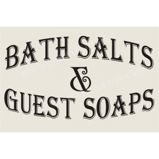 Bath Salts and Guest Soaps 12x18 Stencil