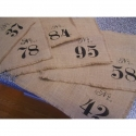 Old World Style No 1 Numbers 12 3x3 stencils