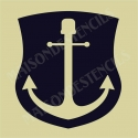 Anchor in Shield 12x12 Stencil