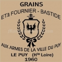 Grains French Feedsack Replica 18x18 Stencil