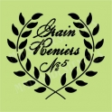 Grains Reniers Laurel Wreath 18x18 Stencil