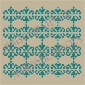 Ornament Scroll Background No.27 12x12 Stencil