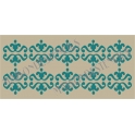 Ornament Scroll Background No.27 5.5x11.5 Stencil