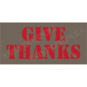 Give Thanks No.2Thanksgiving Holiday 5.5x11.5 Stencil