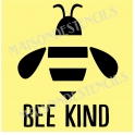 Bee Kind with Text 12x12 Stencil