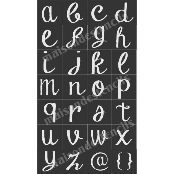 chalk board hand lettered style lower case alphabet 28 With chalk stencils letters