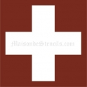Swiss Cross 18x18 Stencil