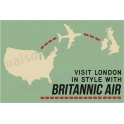 Britannic Air Travel Poster 12x18 Stencil