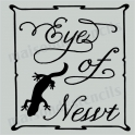 Eye of Newt Label Halloween 8x8 Stencil