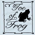 Toe of Frog Label Halloween 8x8 Stencil