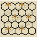 Honeycomb Chicken wire with Bee graphics Background 12x12 Stencil