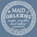 Maid of Orleans typography label 18x18 stencil