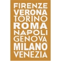 Cities of Italy Italian Subway Art 12x18 Stencil