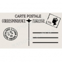 Carte Postale With Stamp 12x18 Stencil