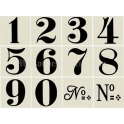 Old World Style No 1 Numbers 12 4x4 stencils
