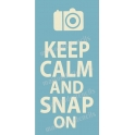 Keep Calm and Snap On 5.5x11.5 Stencil