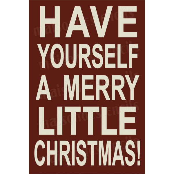 Have yourself a merry little christmas 12x18 stencil for Merry christmas letter stencils