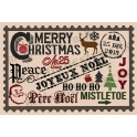 Christmas Typography script and oldworld style Phrases 12x18 Stencil