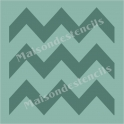 Large Chevron 18x18 Background Stencil