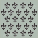 Fleur de Lis Antique Background 18x18 Stencil