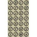 Typewriter Keys Style Capital Alphabet 28 small stencils