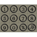 Typewriter Key Numbers 12 small stencils