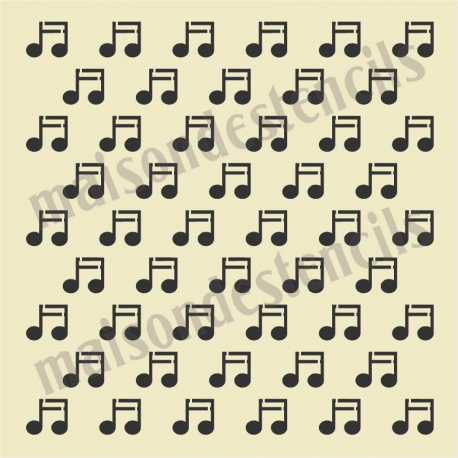 Notes background 12x12 stencil music notes background 12x12 stencil voltagebd Image collections