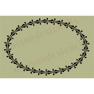 Oval Large Scroll Frame 12x18 Stencil
