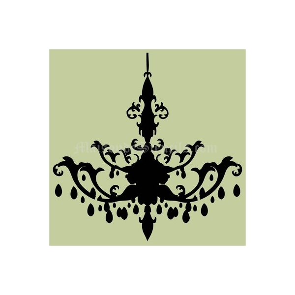 Chandelier k 18x18 stencil aloadofball Image collections