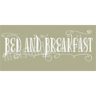 Bed and Breakfast 5.5x11.5 Stencil