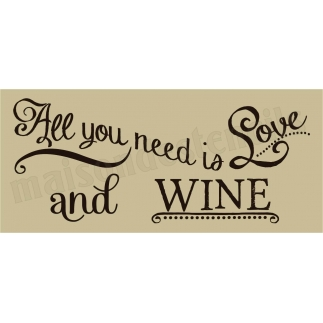 All you need is Love and WINE chalk board hand script font 8 x 18  Stencil