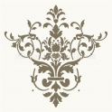 Damask Ornament D 18x18 Stencil