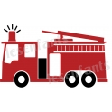Fire Engine Graphic 12x18 Stencil