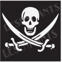 Jolly Roger Graphic 18x18 Stencil