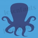 Octopus Graphic 12x12 Stencil