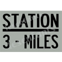 Train Station Sign 12x18 Stencil