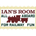 Custom Name Train Room 12x18 Stencil