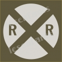 Railroad Crossing Road Sign 2 12x12 Stencil