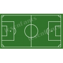 Soccer Field Pitch 10x18 Stencil