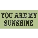You Are My Sunshine Western 5.5x11.5 Stencil