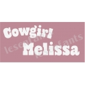 Cowgirl Custom Name 5.5x11.5 Stencil