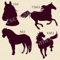 Horse Graphics Set 12x12 Stencil