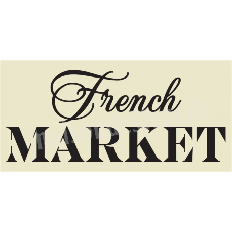 French MARKET 5.5x11.5 Stencil