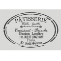 Patisserie Label 20x30 Stencil