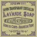 Lavande French Soap Label 18x18 Stencil